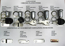 Cam Lock 16mm, 25mm, 30mm Locks All Keyed the Same or Keyed Differently, 2 Keys,