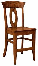 """Set (3) Amish Brookfield 24"""" Stationary Counter Height Bar Stools Solid Wood"""