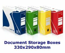 Cardboard Document Boxes Files Archeve Storage Box Office Home Organiser Filing