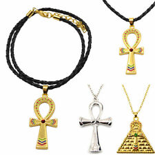 Vintage Charm Egyptian Ankh Cross Symbol Of Life Pendant Necklace Gold Silver