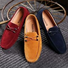 New Mens slip on loafer driving shoes moccasin gommino flat suede casual shoes