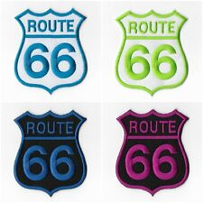 Route 66 USA Highway Road Sign Historic Embroidered Iron on Patches Sewing 034