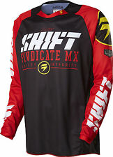 Shift Racing Mens Black/Red/White Strike Dirt Bike Jersey MX ATV 2016 Gear