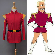 Sitcom Futurama Captain Zapp Brannigan Red Uniform Jacket Cosplay Costume