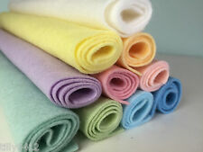 PASTEL Shades Wool Blend Felt Craft Pack (10 Pieces Per Pack) choice of sizes