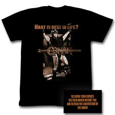 Conan T-shirt - The Barbarian and Destroyer Best Life Black Tee Shirt