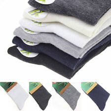 5-Pair Men' Business Solid Bamboo Fiber Breathable Casual Dress Socks Wholesale!