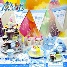 New Kids Party Supplies Baby Theme Birthday Tableware Napkins Plates Tablecover