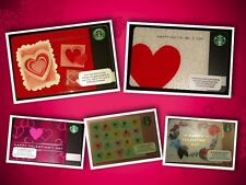 "STARBUCKS GIFT CARD *NEW NO VALUE* ""HEART COLLECTION"" Happy Valentine's Day"