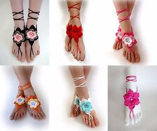 Crochet Sexy Barefoot Beach Sandals Anklet Beach Wedding Yoga Shoes Foot Jewelry