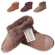 Nordvek Ladies Genuine Sheepskin Slippers Boots Hard Rubber Sole Womens 413-100
