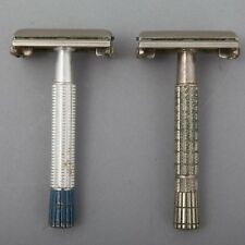 Two Set Gillette Safety Razors Double Edge Super Speed 1955 Blue Tip 1956 TTO