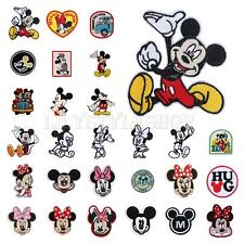 Mickey Minnie Mouse Embroidered Applique Iron On Sew Patch Clothes Accessories