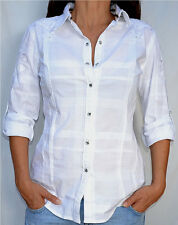 Affliction Women - RADIANT - Long Sleeve Button Down Shirt - WV105 - NEW - White