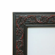 """Custom Picture Frame - Ornate Wood 1"""" BLACK - Any Size! Great Diplomas & Photos"""