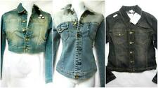 LADIES AKDMKS DENIM  JEANS FITTED JACKET COTTON SIZE 10 NEW