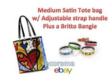 ROMERO BRITTO  MED SATIN TOTE BAG PLUS A BANGLE  (CHOOSE ONE OF 5 COLORS) *NEW*