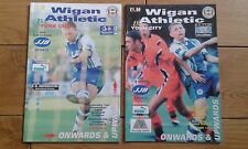 Wigan Athletic Home Football Programmes 1997/1998 Season Inc FA Cup