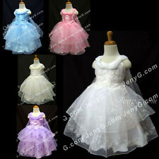 #SP5 Baby Infant Flower Girl Wedding Dresses 0-4 Years