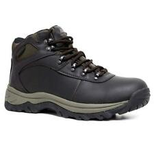 Mens Ozark Trail Leather Walking Hiking Waterproof Trainers Boots Shoes Size