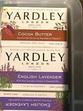 2 x Yardley London Naturally Moisturising Bath Bar Soap Lavender & more New