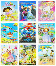 NEW KIDS BOYS GIRLS COLORING & STICKER BOOK PARTY GIFT MINION FROZEN HELLO KITTY