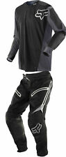 Fox Racing Mens Black/Grey Legion Offroad Dirt Bike Jersey & Pants Kit Combo