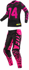 Fox Racing Womens Pink/Black Switch Dirt Bike Jersey & Pants Kit Combo