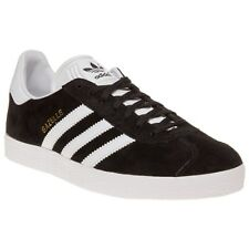 New Mens adidas Black Gazelle Suede Trainers Retro Lace Up
