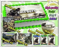 Call of Duty Advanced Warfare Cake topper Birthday edible cupcakes paper 3 easy