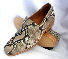 CUSTOM AUTHENTIC PYTHON SNAKE SKIN LEATHER LOAFER DRESS MEN SHOES Size available