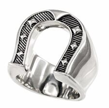 Solid Sterling Silver Lucky Horseshoe Ring 25g