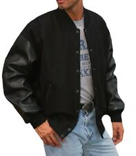 Reed Mens Premium Varsity Leather wool Jacket Made in USA Style 092 All Sizes