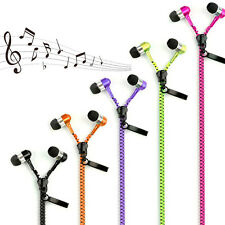 3.5mm In-ear Zipper Stereo Hands-free Headphone Earphone Headset Earbuds Mic New