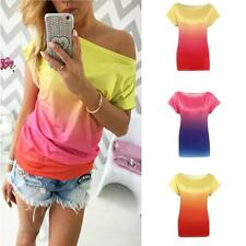 2016 Fashion Womens Summer Tops Loose Tee Short Sleeve T shirt Casual Blouse New