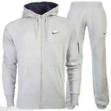 Nike Foundation Men's Grey/Navy Full Zip Tracksuit Hoody and Joggers Size S-XL