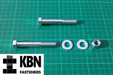 7/16 UNF x 3 Bolts +/- Nyloc Nuts & Washers Zinc Plated High Quality Fasteners