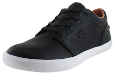 7-30SPM003502H LACOSTE BAYLISS VUL PRM US SPM LEATHER BLACK MEN SHOES SNEAKERS A