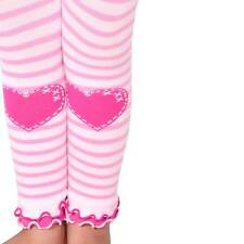 Naartjie Girls Stripes with Heart Legging with Ruffle Bottom, Pink NWT