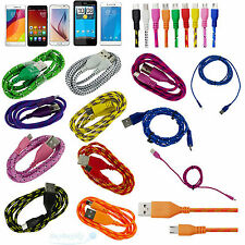 Micro USB Sync Data Charger Cable Cord Braided Fabric For Android 1M/2M/3M U.S.A