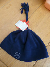 BREKKA NAVY BLUE FLEECE BEANIE HAT WITH TASSLE TOP 52CM 4 5 6 YR NEW WITH TAGS