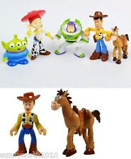 TOY STORY 3 FIGURES CAKE TOPPERS JESS WOODY BUZZ SLINKY GROSGRAIN RIBBON TOYS