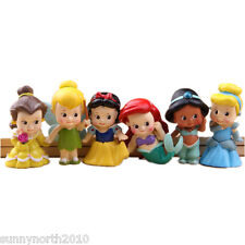 BABY PRINCESS FIGURES ARIEL CINDERELLA BELLE TINKERBELL CAKE TOPPERS 5cmH *NEW*