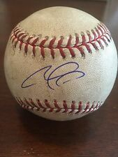 Carlos Correa AUTOGRAPHED Game used baseball From 1st HR/1st SB Game PSA/DNA