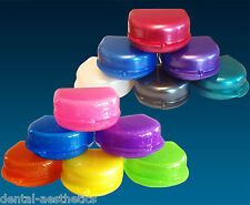 Retainer Case, Glitter & Plain Colours ~ Gumshield Box Dentures Mouthguard Brace
