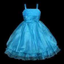 Girls Princess Party Flowergirl Child Birthday Wedding Dress BLUE SIZE 5 6 7 8 9
