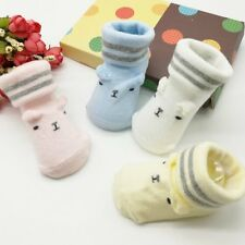 NewBorn Baby Boy Girl Kids Toddler Soft Sole Crib Shoes Carton Print Ankle Socks