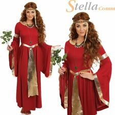 Lady Renaissance Tudor Queen Fancy Dress Costume Ladies Medieval Princess