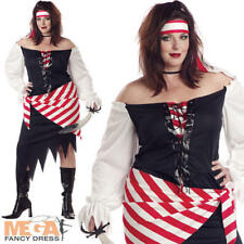 Ruby Pirate Beauty Plus Size UK 16-22 Ladies Halloween Fancy Dress Adult Costume