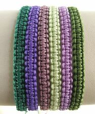 Handcrafted Cord Bracelet Adjustable Macrame Art Unisex Assorted Colors